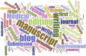 blog medical writing word cloud