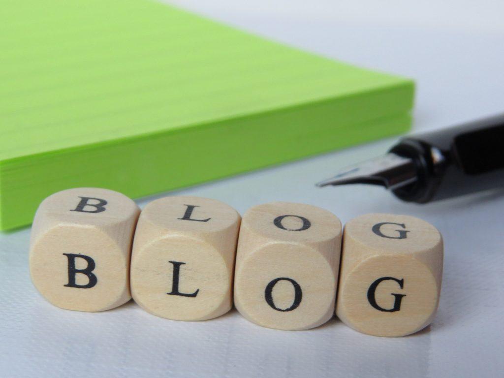 blogs illustratie met het woord blog