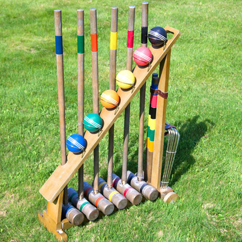 croquet set for determining authorship and order
